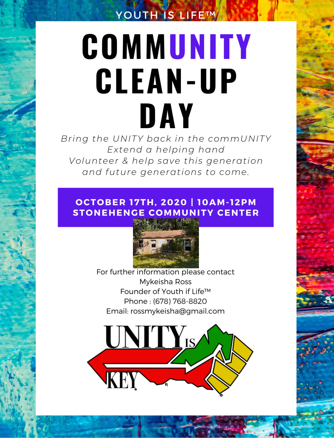 Community Clean Up Day with Youth Is Life Athens, GA. Youth iof Life is a Domestic Non Profit