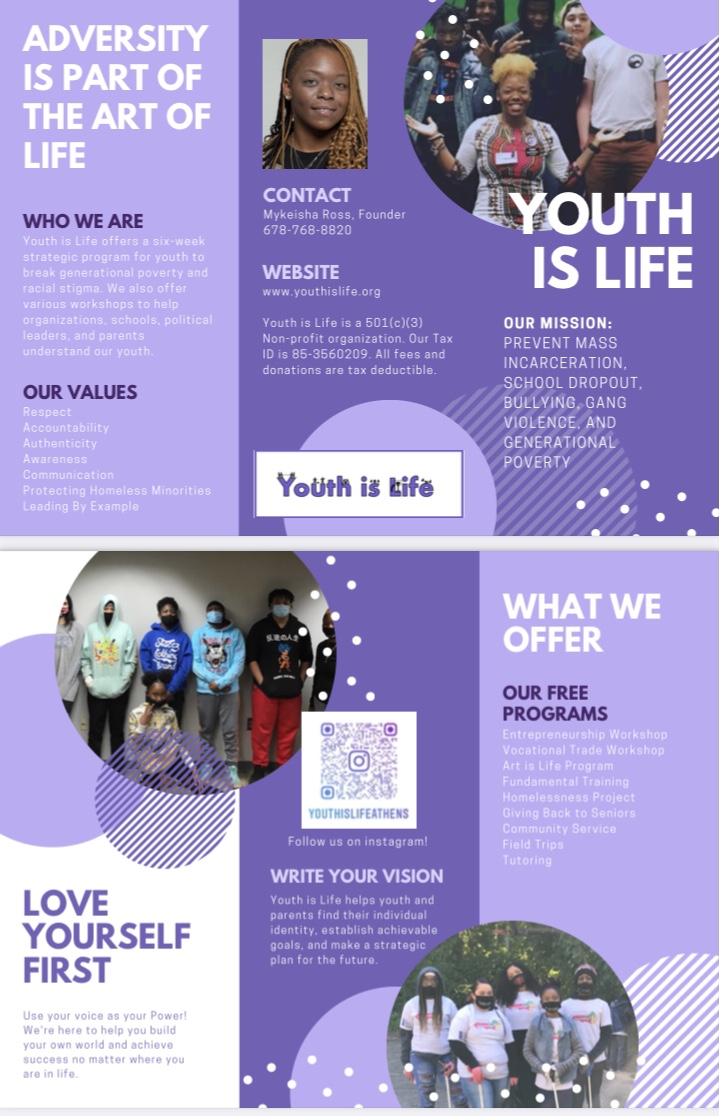 Who we are, contact information and website information for Youth Is Life Athens